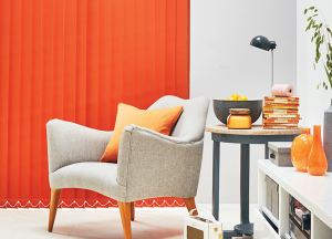 finesse blinds orange vertical blackout blinds