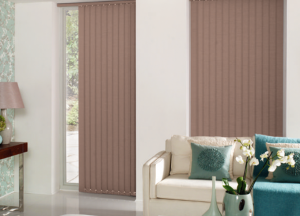 finesse blinds brown vertical black out blinds