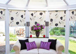 finesse blinds white floral conservatory blinds
