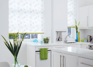 finesse blinds white green kitchen roller blinds