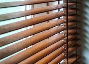 finesse blinds wooden close up